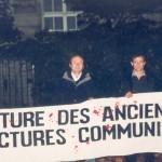 Miting în faţa Ambasadei Rusiei din Paris. 1 octombrie 2004
