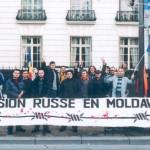 Miting în faţa Ambasadei Rusiei din Paris.1
