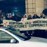Miting 20 octombrie 2004. Ambasada României din Paris