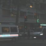 Unica imagine luată înainte de a fi interpelat de un poliţist francez. Erau vreo 8 autobuse cu poliţişti speciali