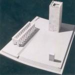 Turnul Dezrobirii din Chişinău. Inaugurat în 1942, distrus cu tankurile de sovietici. Arhitector Octav Doicescu