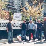 Miting în faţa Ambasadei Rusiei din Paris.5