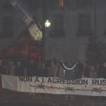 Miting în faţa Ambasadei Rusiei din Paris