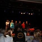 Artiștii la sfîrșitul concertului